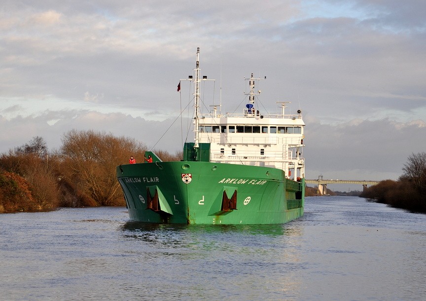 Arklow Flair on the Manchester Ship Canal 23rd December 2012