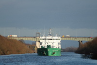 Arklow Flair  with the Thelwall Viaduct M6 in the background