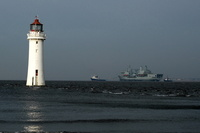 RFA Fort George departing the Mersey 16th January 2013