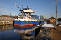 Monica at Latchford Locks 22nd January 2013