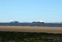 Joanna Borchard and Baltic Champion viewed from New Brighton