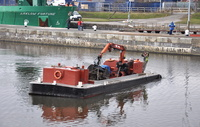 BLM 2 of Bilway Marine cleaning up the canal