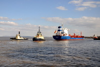 Chemtrans Ems and tugs Svitzer Sussex & Thorngarth