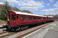 Steam Railcoach No93 and Auto Trailer No 92 at Glyndyfrdwy
