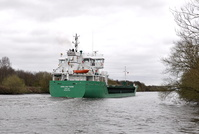 Arklow Fern passing Thelwall Ferry 22nd April 2013