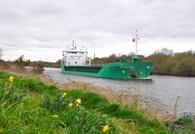 Arklow Fern on the Manchester Ship Canal Thelwall 22nd April 2013