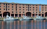 HMS Pursuer HMS Archer & HMS Charger in the Albert Dock