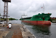 Arklow Freedom awaiting the lock