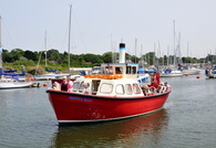 Puffin Billi at Lymington Converted  Lifeboat from the SS Canberra