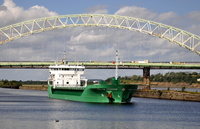 Arklow Freedom passing the Silver Jubilee Bridge Runcorn