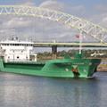 Arklow Freedom passing the Runcorn Bridge