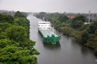Arklow Rambler arriving on a wet morning for Manchester