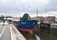 Muhlenau in Latchford Locks 20th August 2013