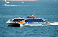 Cyclone Clipper chartered by Red Funnel for IOW Bestival