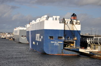 Car Carriers Procyon Leader and Hoegh Kobe