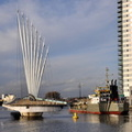 W D Mersey passing the Media City Footbridge