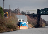 Merle at Acton Grange Manchester Ship Canal 7th February 2014