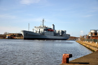 RFA Fort Rosalie (A385)  at Birkenhead 16th February 2014