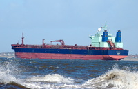 Palva sailing for Rotterdam 16th February 2014