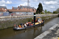 Steam Tug Kerne at Latchford Locks 26th April 2014