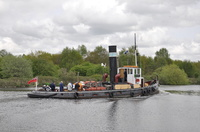 Steam Tug Kerne at Thelwall 26th April 2014