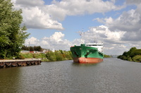 Arklow Flair approaching Latchford 6th May 2014