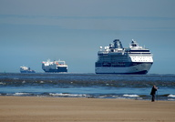 Celebrity Infinity and ferries Seatruck Power and Norbank