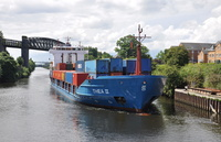 Thea II approaches Latchford Locks 10th June 2014