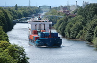 Thea II makes her first visit on the Manchester Ship Canal
