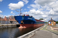 General Cargo Ship Krempertor in Latchford Locks 6th July 2014