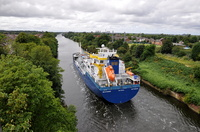 Bayamo on the Manchester Ship Canal at Latchford High Level Bridge