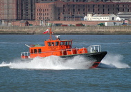 Liverpool Pilot Boat Kittiwake heads down the Mersey