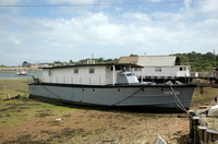 Motor Torpedo Boat 24 now converted houseboat at Bembridge IOW