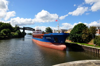 Odertal arriving Latchford Locks 26th August 2015