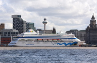 Aidacara at Liverpool Cruise Terminal