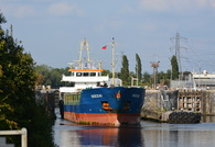 Kruckau departing Irlam Locks  11th September 2015