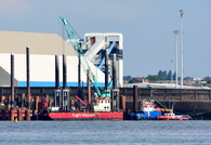 New river berth under construction September 19th 2015