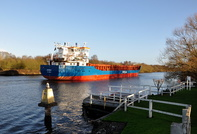 Jevenau passing Thelwall Ferry  20th December 2015