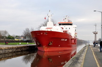B Gas Linda on the Manchester Ship Canal 19th January 2016