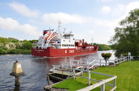 B Gas Commander passing Thelwall Ferry 30th May 2016