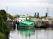 Arklow Vale departing Irlam Locks 5th May 2016