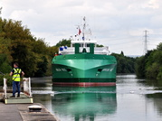 Arklow Vale sailing 5th Aug after being stranded since 14th May due to new bridge collapse