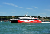Red Jet 6 departing Cowes