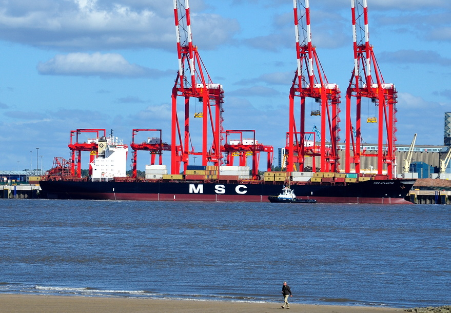 MSC Atlantic alongside the new river berth
