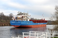 Wilson Ghent passing Thelwall Ferry 21st January 2017