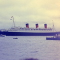 Queen Mary passing Hythe Pier 1967