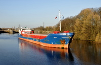Noest seen here departing Irlam sailing for Limerick