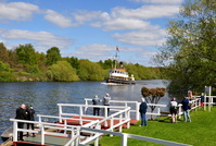 Daniel Adamson approaching Thelwall Ferry