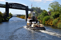 Daniel Adamson heads for Ellesmere on the return trip 23rd April