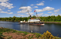 Daniel Adamson passing Moore on Manchester Ship Canal Cruise
